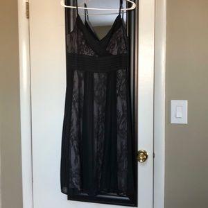 Sliver lined Black lace dress